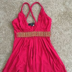 Sky Tops - Sky Brand Red Gold Chain Waist Band Top Size XS